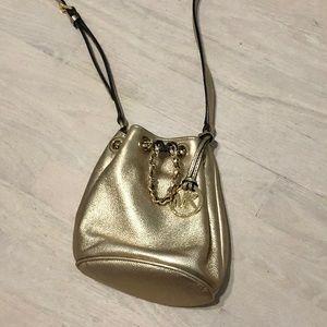 Michael Kors Bags - Michael Kors Small Frankie Metallic Leather Purse